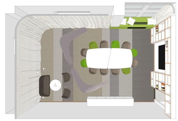Grundriss Konferenzraum - Variante 1