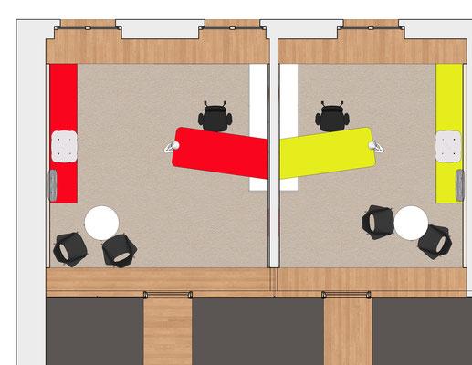 Sparkasse Finsterwalde - Grundriss Büros