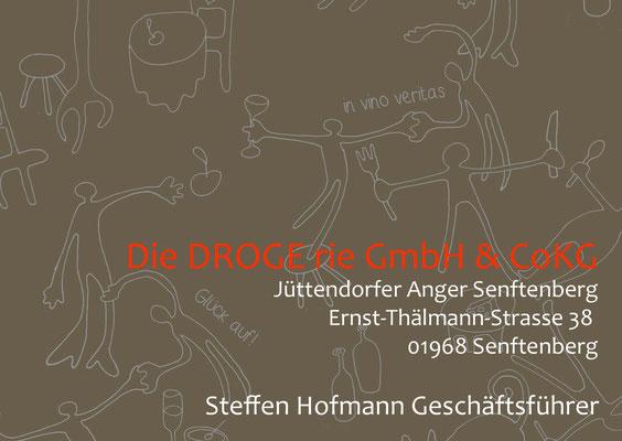 "Restaurant ""Drogerie"" - Visitenkarte, Seite 2"