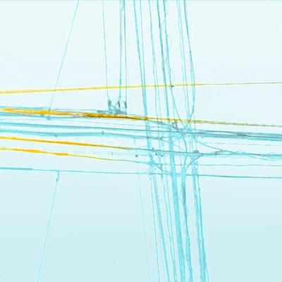 Deutsche Bahn Wettbewerb, Farb- und Orientierungssystem - 4OG Thema: Leitung, Verbindung, Himmel 4 OG Akzentfarbe: hellblau