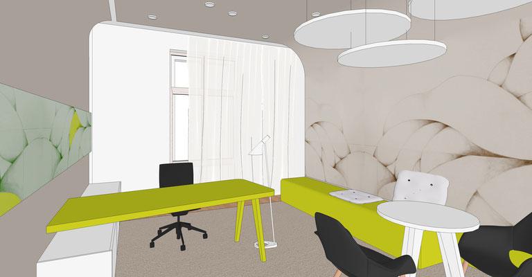 Sparkasse Finsterwalde - Büro 1 (Akzentfarbe grün)