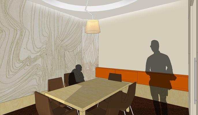 Beratungsraum - Variante 2, Vorschlag Wandmalerei