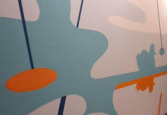 """2. Wandgestaltung Flur Bereich """"Wasser"""""""