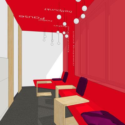 Deutsche Bahn Wettbewerb - Meeting Point EG (Akzentfarbe rot)