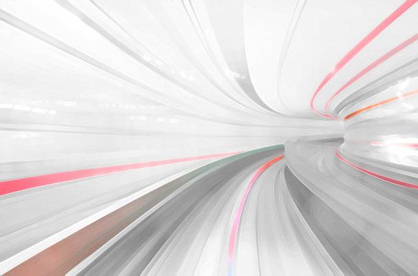 Deutsche Bahn Wettbewerb, Farb- und Orientierungssystem -EG Thema: Bewegung, Schiene, Dynamik, EG Akzentfarbe: rot