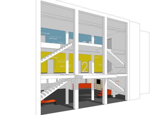 Foyer - Blick von aussen