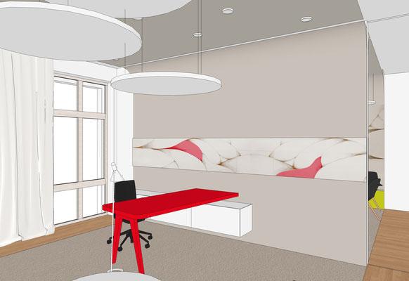 Sparkasse Finsterwalde - Büro 1 (Akzentfarbe rot)