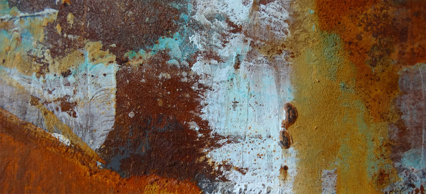 """Lost in Rost III"" -  Acryl, Rost auf Leinwand  100x50cm"