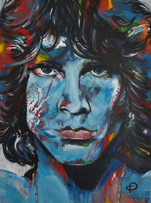 """Mr. Mojo Risin - Jim Morrison""  Acryl auf Leinwand  60x80cm"
