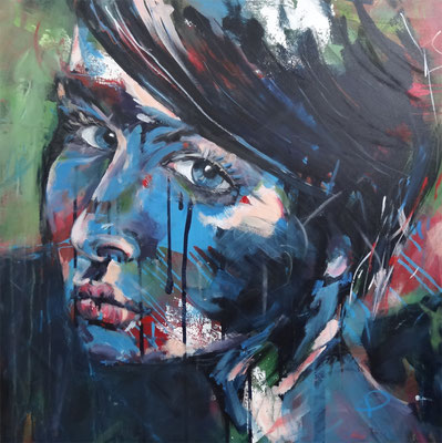 """Elle""  Acryl auf Leinwand  80x80cm"