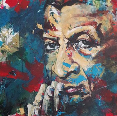 """Abdullah Ibrahim (Dollar Brand)""  Acryl auf Leinwand  80x80cm"
