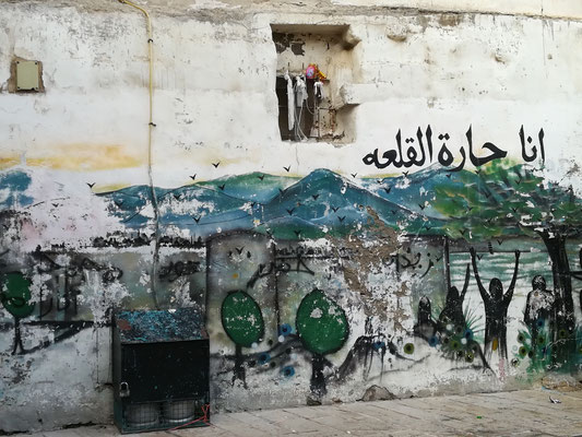 Die Altstadt ist überwiegend arabisch. Ich höre von Harel, dass auch hier der Konflikt zwischen Juden und Arabern immer wieder aufflammt.