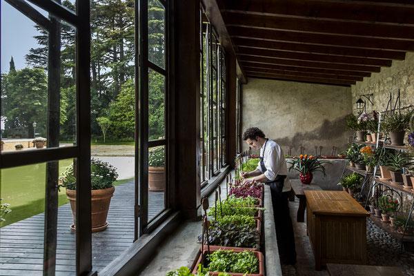Green house & Chef Baiocco © Villa Feltrinelli