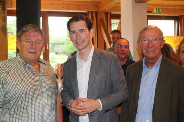 Helmut Klose, Sebastian Kurz und Wilfried Haslauer (c) Andrea Fagerer