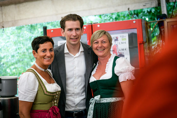 Sebastian Kurz zu Besuch beim Jakobikirtag der Jakobischützen St. Jakob am Thurn (c)Manuel Horn Photography