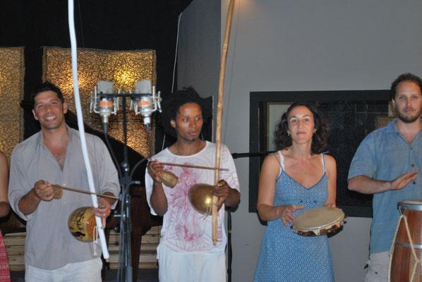 Gatinho Angola, gabie, Répétition cd Mestre Pelé CECA 2016