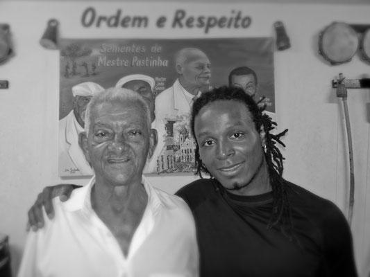 Gatinho Angola na academia de Mestre Boca Rica (de Pastinha)