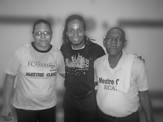 Gatinho Angola na academia de capoeira de Mestre Curío (de Pastinha)