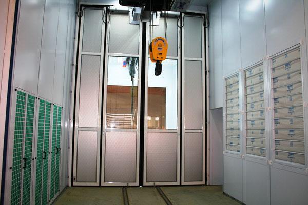 Industrielackieranlage mit horizontaler Luftführung