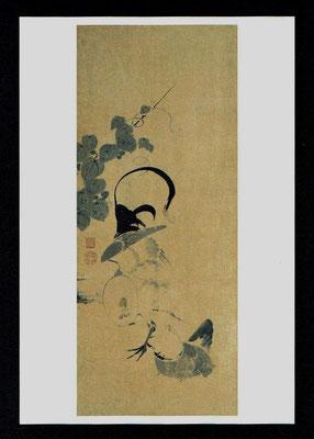 鶴図屛風(四扇)