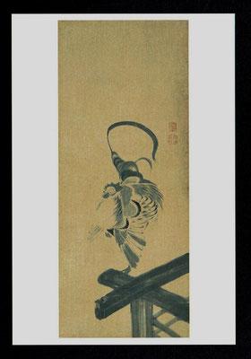 鶴図屛風(三扇)