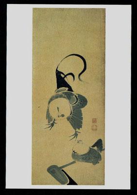 鶴図屛風(一扇)