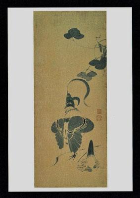 鶴図屛風(五扇)