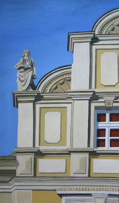<b>Lüneburg – Am Berge</b><br>Gouache/Papier | 2006 | 33,9 x 19,3 cm