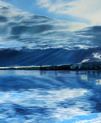 <b>Lago di Bolsena II</b><br>Öl/Leinwand | 2018 | 115 x 95 cm