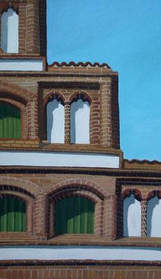<b>Lüneburg – Am Sande I</b><br>Gouache/Papier | 2006 | 34,2 x 19,2 cm