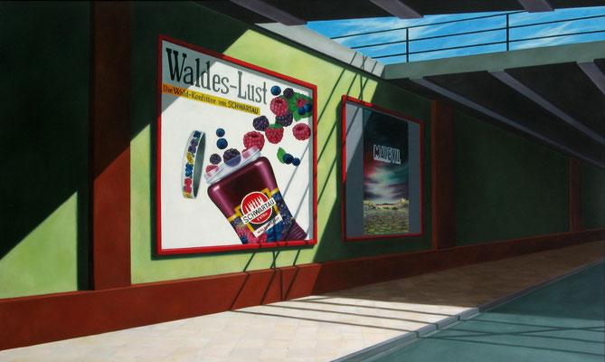 <b>Waldes-Lust</b><br>Öl/Leinwand   1986   120 x 200 cm