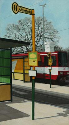<b>Endstation</b><br>Öl/Nessel   1983   90 x 50 cm