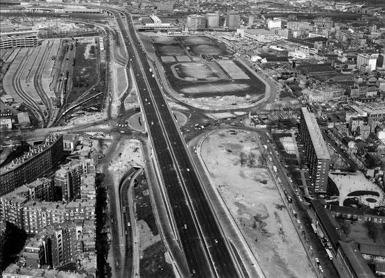 1957 - La porte de Pantin et le boulevard périphérique - photo jacques Henrard