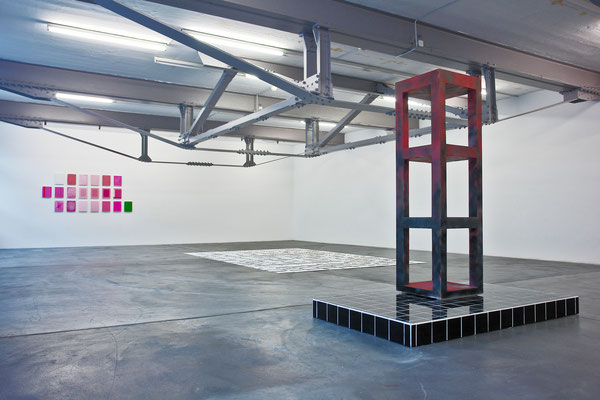 Exhibition view Kunsthalle Vebikus Schaffhausen, Jean-Claude Houlmann, Anja Braun and Felix Baudenbacher