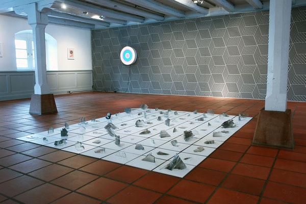 Ausstellungsansicht Regionale 17, städtische Galerie Stapflehus Weil am Rhein mit Frédéric Pagace und Jean-Claude Houlmann