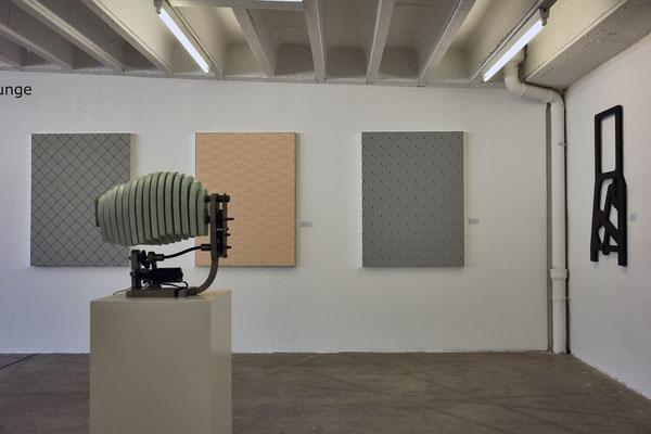 Ausstellungsansicht Galerie Andreas Kerstan im Galerienhaus Stuttgart 2017, Reinhardt Grimm und Jean-Claude Houlmann
