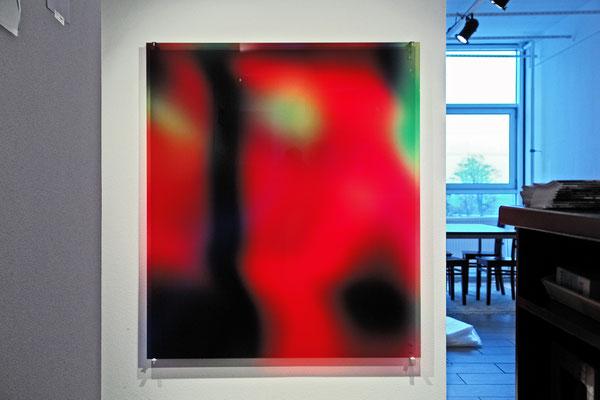 Ausstellungsansicht, Ateliers Florenz, Digitaldruck auf Acrylglas, 150x120cm, 2016, Jean-Claude Houlmann