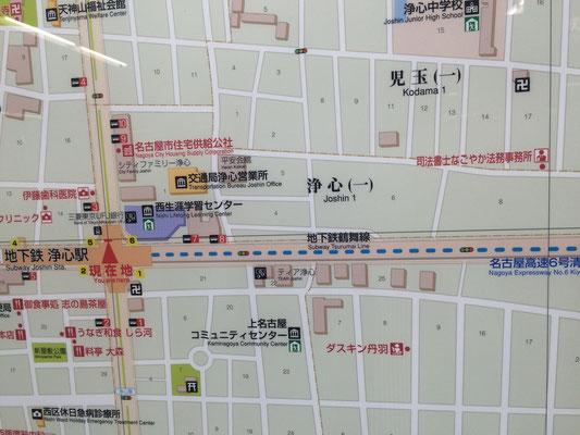 浄心駅マップ広告