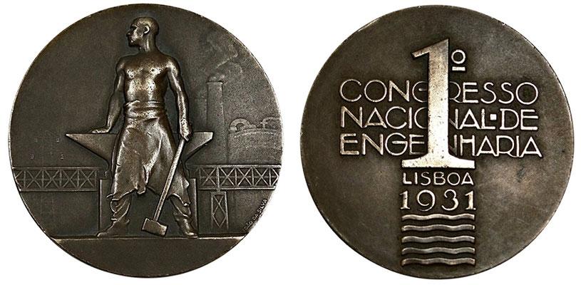 João da Silva - Medalha comemorativa do 1º Congresso Nacional de Engenharia, em Lisboa (1931)