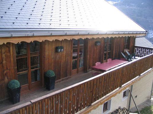 Vue extérieure côté terrasse