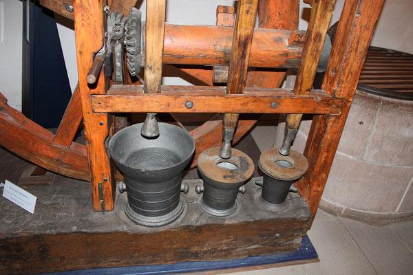 Pochmaschine aus Biedenkopf (Detailansicht)