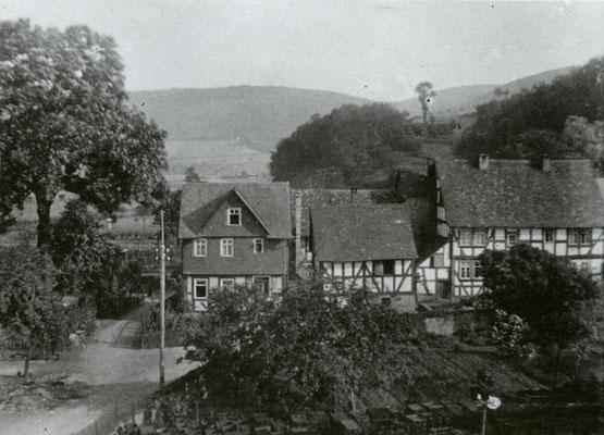 Die Arbeitersiedlung Wossem am südlichen Rand des Hüttengeländes