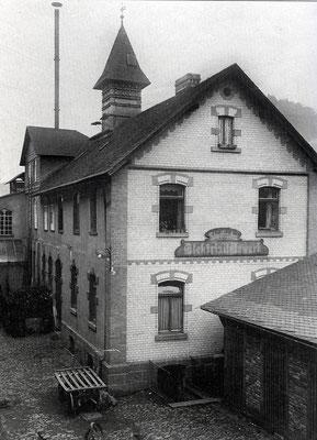Das Elektrizitätswerk zur Betriebszeit (vor 1914?)