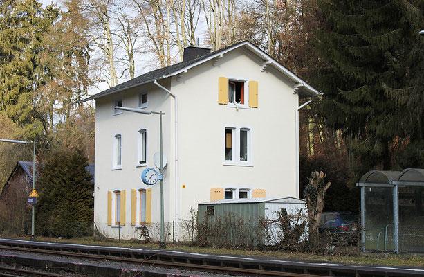 Der ältere Grävenecker Bahnhof von 1862