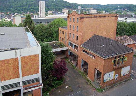 Die leeren Gebäude vor dem Abriss, 17. Mai 2009