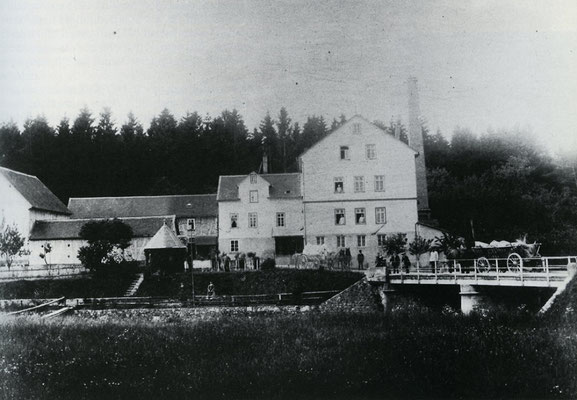 Die Holzmühle in einer Aufnahme um 1895