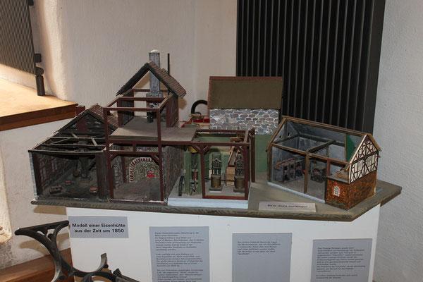 Modell einer Eisenhütte um 1850