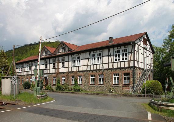 Das ehemalige Verwaltungsgebäude der Ludwigshütte (heute Hütter Treff)