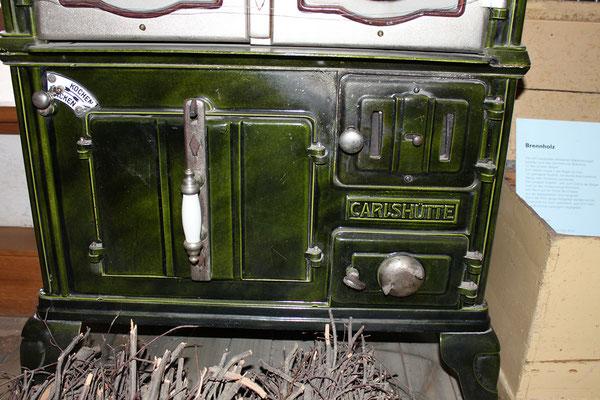 Emaillierter Kochherd aus der Carlshütte (unterer Teil)