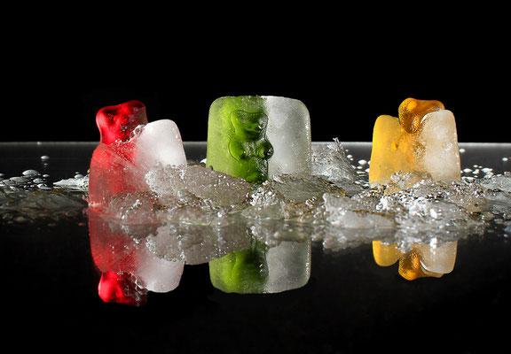 Gummibären im Eis
